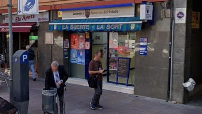 Imagen de una administración de loterías de Santa Coloma de Gramenet, Barcelona.