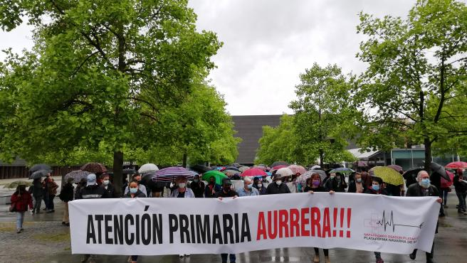 Una manifestación reclama en Pamplona mejoras en la Atención Primaria y el sistema público de salud
