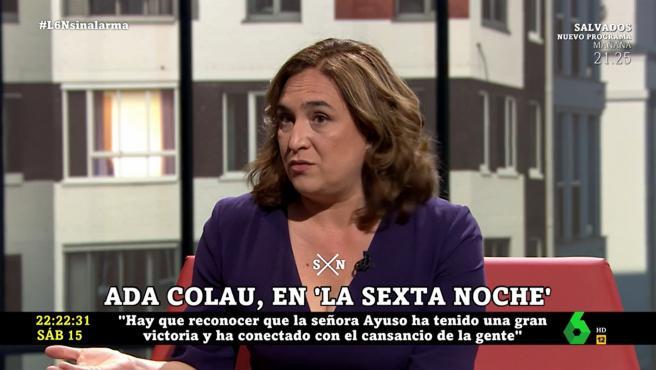 Ada Colau, en 'La Sexta noche'.
