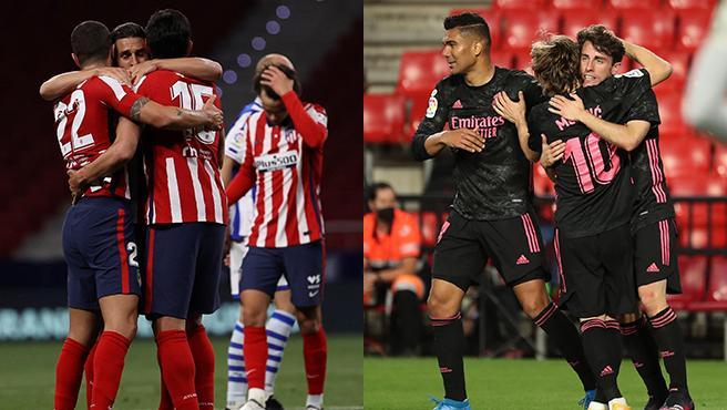 Atlético y Real Madrid, candidatos al título.