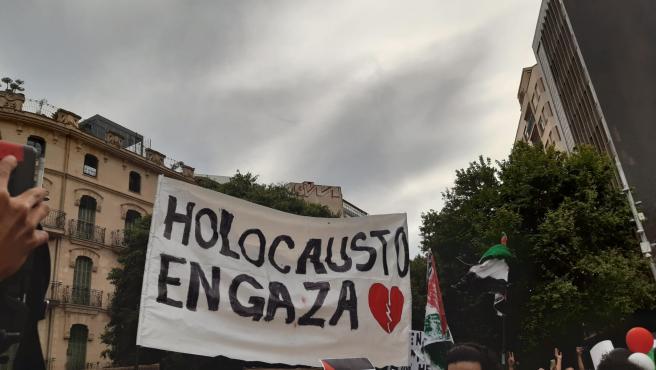 Cientos de personas se concentra en Palma para expresar su apoyo al pueblo palestino y contra el Gobierno de Israel