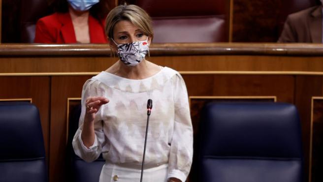 La ministra de Trabajo y vicepresidenta tercera, Yolanda Díaz.