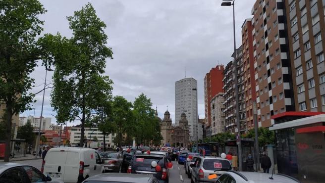 Protesta en la ciudad contra el cierre del Muro y la ordenanza de movilidad
