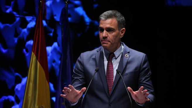 El presidente del Gobierno, Pedro Sánchez, este lunes.