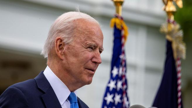 El presidente de EE UU, Joe Biden, comparece en rueda de prensa el 13 de mayo.