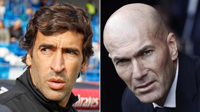 Raúl González and Zinedine Zidane, in a file image.