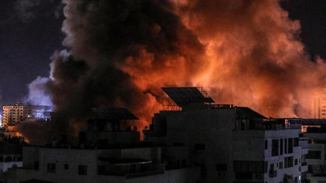 Explosiones en la Franja de Gaza por bombardeos israelíes