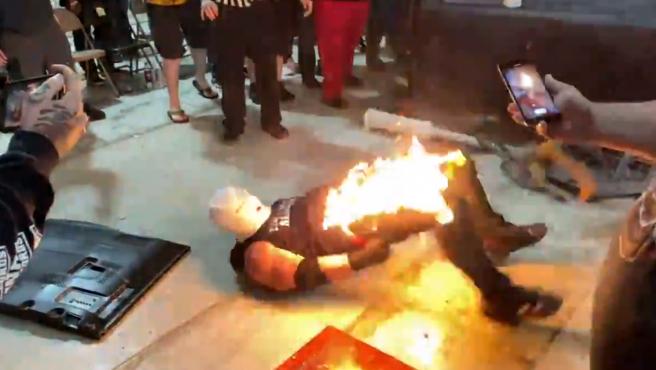 Accidente en un show independiente de lucha libre.