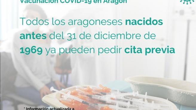 Sanidad abre las agendas para autocita de vacunación a los nacidos en 1968 y 1969