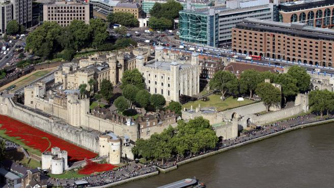 Vista aérea de la Torre de Londres.