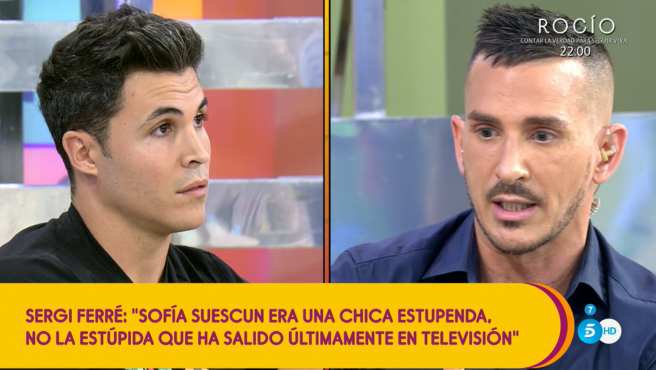 Kiko Jiménez y Sergi Ferré en 'Sálvame'.