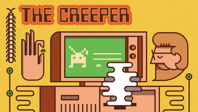 Creeper era un gusano, un tipo de virus informático que se replica y propaga a otros sistemas.