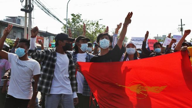 Protestas contra el golpe de Estado en Myanmar