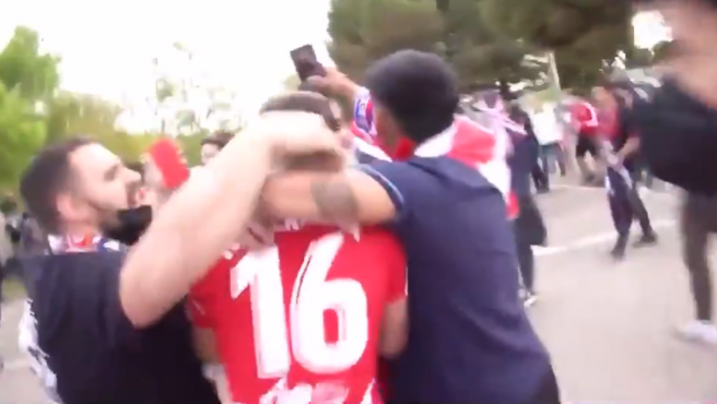 Images of the chaos in the Zorrilla parking lot.