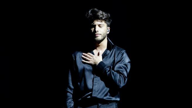 Blas Cantó interpreta 'Voy a quedarme' en Eurovisión 2021.