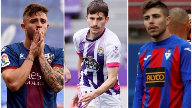 Huesca, Real Vallodolid and Eibar, teams relegated.