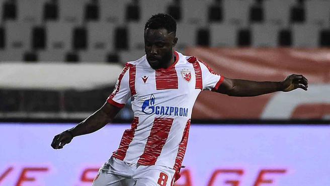 Guelor Kanga, during a Red Star Belgrade match