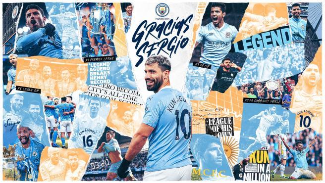 El Manchester City despide al Kun Agüero como leyenda del club