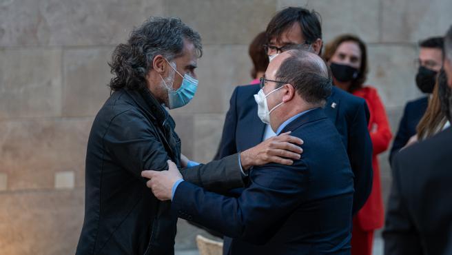 La toma de posesión de Aragonès reúne a Iceta, Colau, Junqueras, Cuixart, Mas, Montilla y Torra
