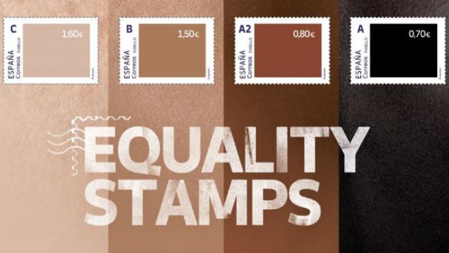 """Correos ha lanzado una colección de sellos que tiene como objetivo concienciar sobre la desigualdad racial y defender la diversidad, la inclusión y la igualdad de derechos. La iniciativa, que ha sido bautizada con el nombre 'Equality Stamps', surge en el Mes Europeo de la Diversidad y coincide con el aniversario del asesinato de George Floyd en Estados Unidos. Se trata de un proyecto que, según indican en un comunicado, da continuidad al 'Protest Staps, y que está compuesto por una serie de sello cuyo valor irá unido al color de piel que representen. """"Cuanto más oscuro sea el sello, menor valor tendrá, por lo que, a la hora de hacer un envío será necesario utilizar más sellos negros que blancos"""", detallan, explicando que, de este modo, """"cada carta y cada envío se convertirán en un reflejo de la desigualdad creada por el racismo""""."""