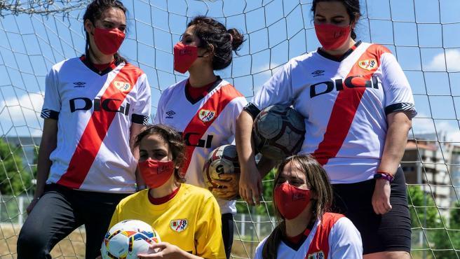 Las jugadoras del Fundación Rayo Vallecano DCA Femenino.