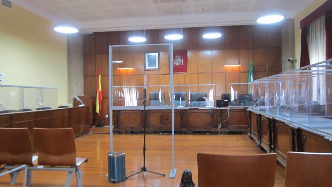Sala de vistas de la Audiencia de Jaén.