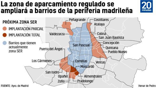 Los barrios que podrían solicitar el SER.
