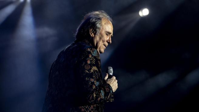 Joan Manuel Serrat en un concierto en Madrid.
