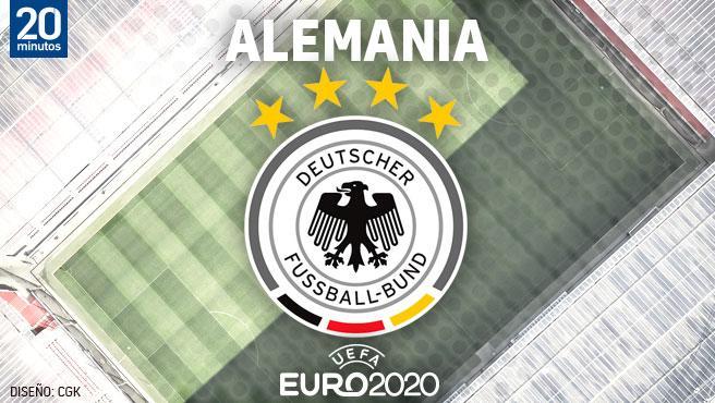 El equipo alemán en la Euro
