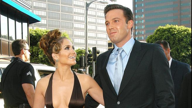 Jennifer Lopez y Ben Affleck en 2003.