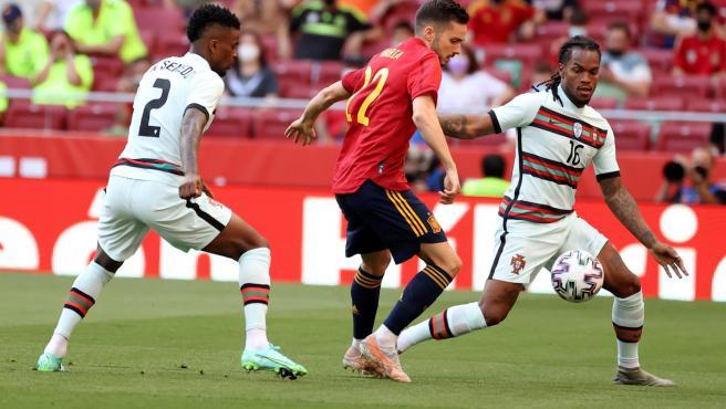 Sarabia, en el amistoso contra Portugal.