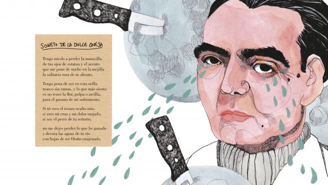 Ilustración de la biografía 'Federico', de Ilu Ros.