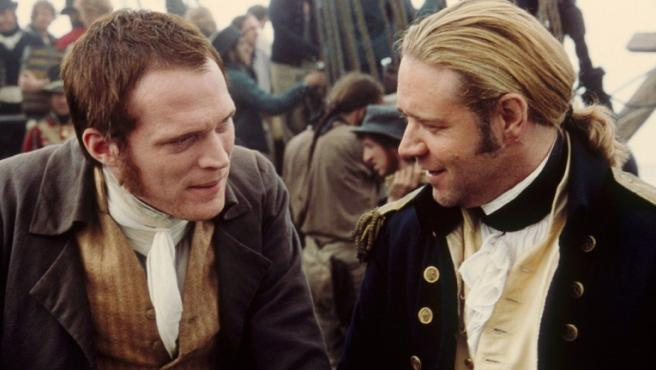 Paul Bettany y Russell Crowe en 'Master and Commander'