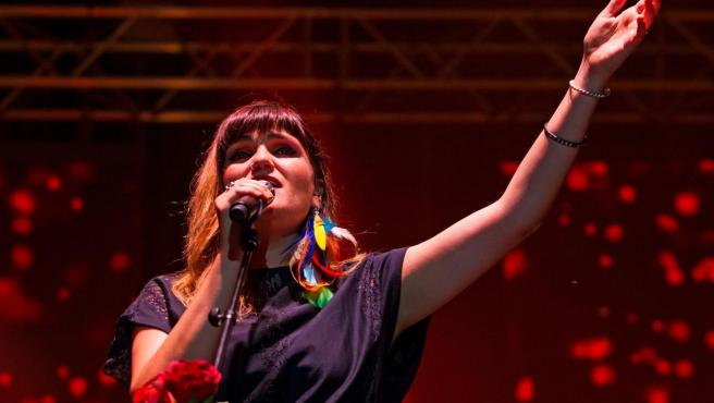 Rozalén en su concierto en Málaga.