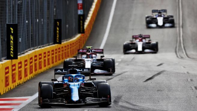 Fernando Alonso, durante el GP de Azerbaiyán