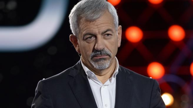 El presentador Carlos Sobera, en el plató de 'Gran Hermano VIP'.