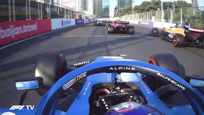 The highlight of Fernando Alonso at the Azerbaijan GP