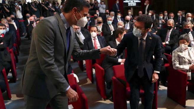 Pedro Sánchez y Pere Aragonés