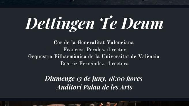 La Orquestra de la UV conmemora su 25 aniversario junto al Cor de la Generalitat en un concierto en Les Arts