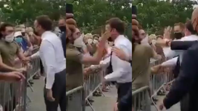 Macron, abofeteado