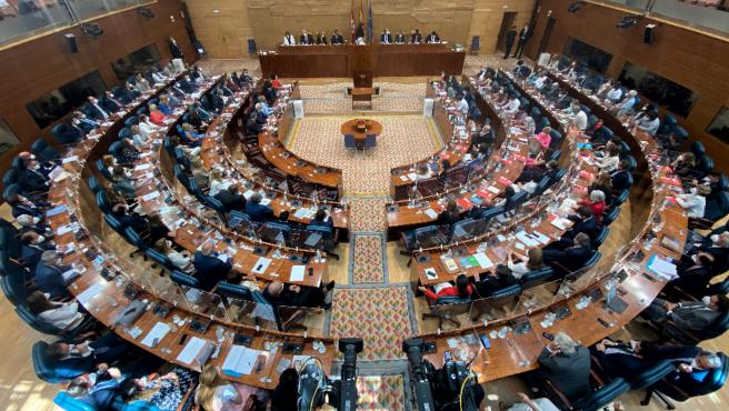 Vista general de la Asamblea de Madrid de la XII Legislatura.
