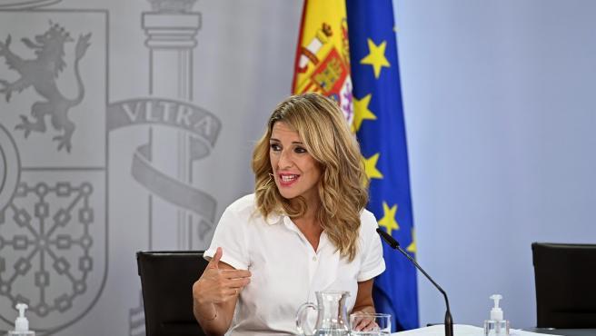 La vicepresidenta tercera del Gobierno, Yolanda Díaz.