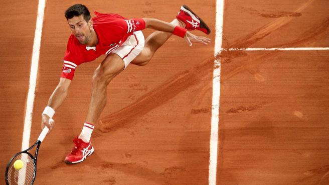 Novak Djokovic, en Roland Garros.