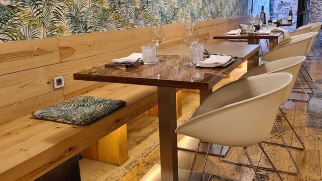 Interior del restaurante Ana y Quintín.