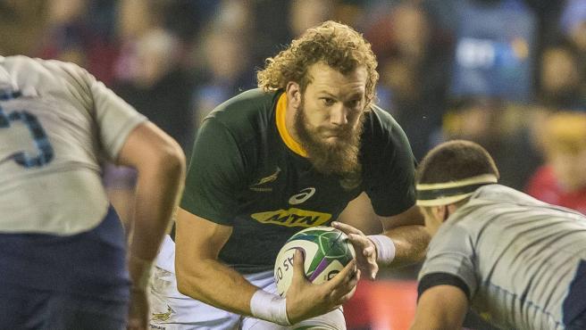 RG Snyman, jugador de la selección sudafricana de rugby.