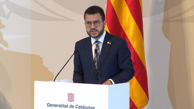 """Aragonès: """"El conflicto político no acabará sólo con los indultos"""""""
