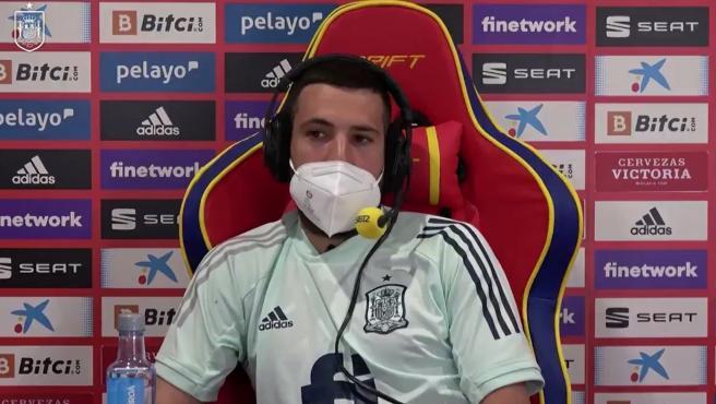 Jordi Alba, durante su entrevista en 'El Larguero'