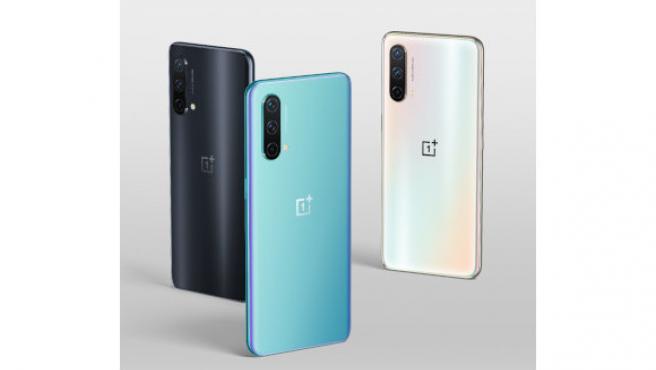 Los tres colores del OnePlus Nord CE 5G