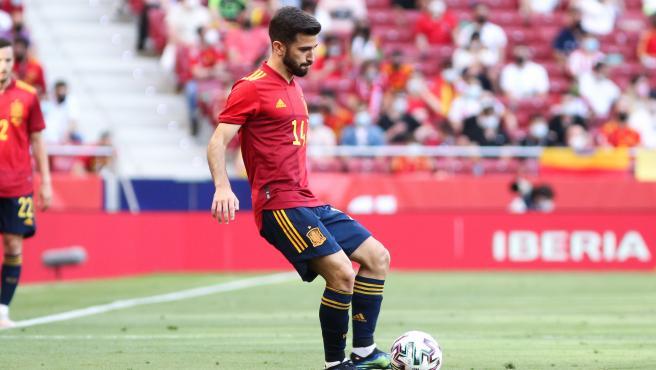 José Gayà, durante un partido con la selección española de fútbol