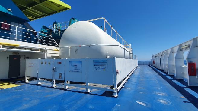 La Fundación Valenciaport retoma la medición de emisiones de cinco buques de Baleària en el marco del proyecto LNGHIVE2